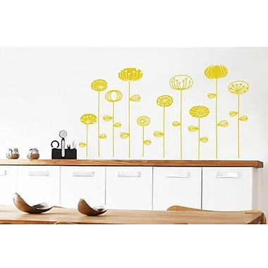 RoomMates Mia & Co Goteborg Peel and Stick Transfer Wall Decal, Yellow