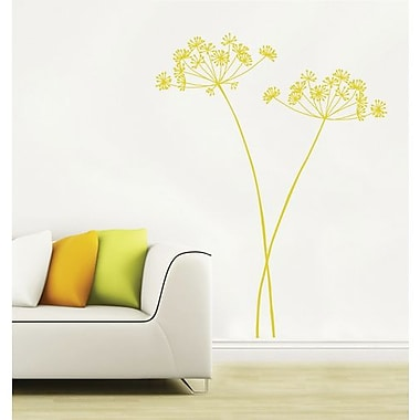 RoomMates Mia & Co Algajola Peel and Stick Transfer Wall Decal, Yellow