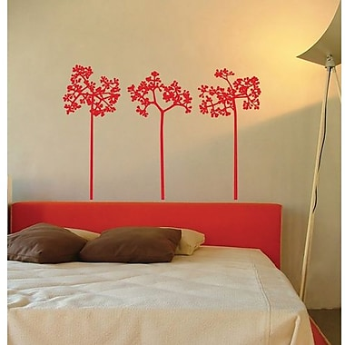 RoomMates Mia & Co Flair Peel and Stick Transfer Wall Decal, Red