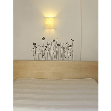 RoomMates Mia & Co Floral Arc Peel and Stick Transfer Wall Decal, Brown