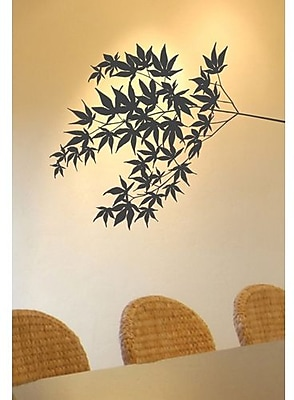 RoomMates Mia & Co Fluttering Foliage Peel and Stick Transfer Wall Decal, Brown 202967