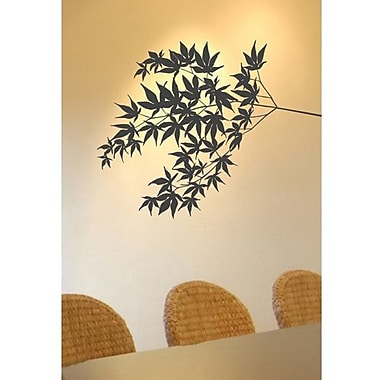 RoomMates Mia & Co Fluttering Foliage Peel and Stick Transfer Wall Decal, Brown