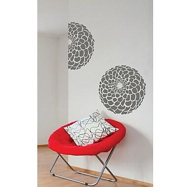 RoomMates Mia & Co Floronda Peel and Stick Transfer Wall Decal, Gray