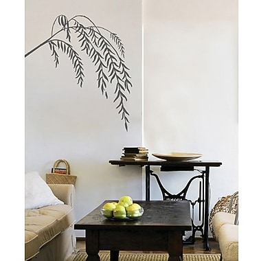 RoomMates Mia & Co Slender Willows Peel and Stick Transfer Wall Decal, Gray