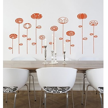 RoomMates Mia & Co Kiruna Peel and Stick Transfer Wall Decal, Orange