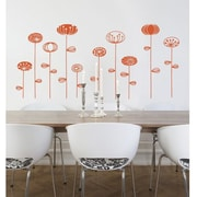 RoomMates Mia & Co Kiruna Peel and Stick Transfer Wall Decal, Orange