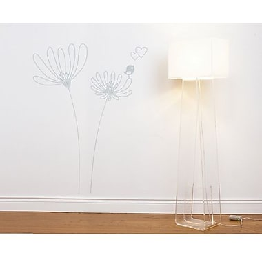 RoomMates Mia & Co Shawinigan Peel and Stick Transfer Wall Decal, Gray