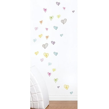 RoomMates Mia & Co Light Hearts Peel and Stick Wall Decal