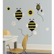 RoomMates One Decor™ Spelling Bees Chalkboard Peel and Stick Wall Decal, Yellow/Black