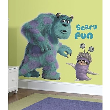 RoomMates Monsters inc. Sulley annd Boo Peel and Stick Giant Wall Decal