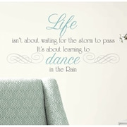 RoomMates Dance in the Rain Quote Peel and Stick Wall Decal