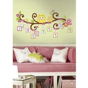 roommates peel and stick wall decal scroll tree letter branch