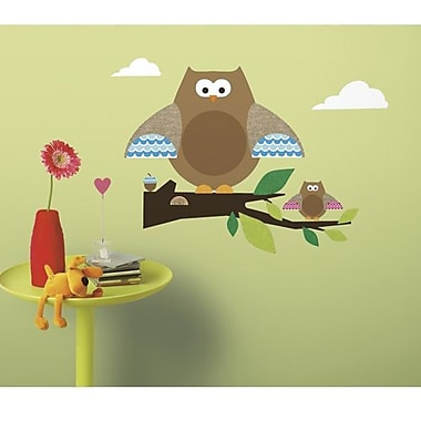RoomMates One Decor™ Owls and Branches Peel and Stick Giant Wall Decal