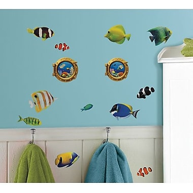 RoomMates Peel and Stick Wall Decal, Lenticular Fish