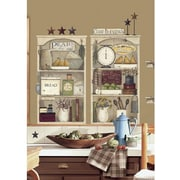 RoomMates Country Kitchen Shelves Peel and Stick Giant Wall Decal