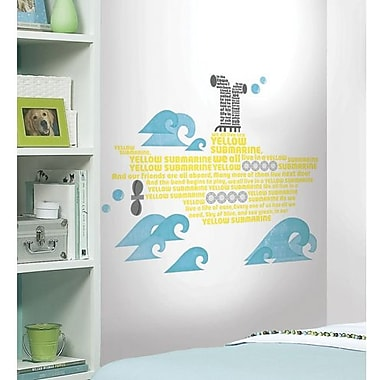 RoomMates Yellow Submarine Lyrics Peel and Stick Wall Decal
