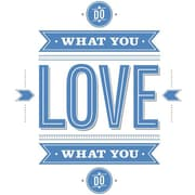 RoomMates 55 Hi's Do What You Love Peel and Stick Wall Decal, Blue