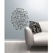 RoomMates 55 Hi's You Can't Take It With You Peel and Stick Wall Decal, Black/Yellow