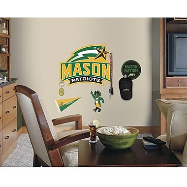 RoomMates George Mason Peel and Stick Giant Wall Decal, Green/Gold
