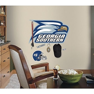 RoomMates Georgia Southern University Peel and Stick Giant Wall Decal With Hooks, Blue