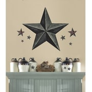 RoomMates Barnstar Peel and Stick Giant Wall Decal, Slate Gray