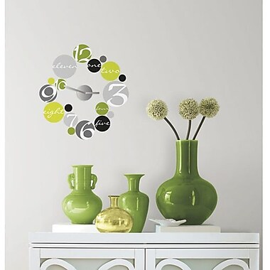 RoomMates Peel and Stick Wall Decal, Circle Clock