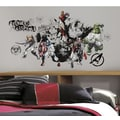 RoomMates Assemble Black and White Peel and Stick Giant Wall Decal