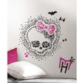 RoomMates Monster High Heart Skullette Peel and Stick Wall Decal, Black