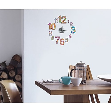 RoomMates Colorful Clock Peel and Stick Wall Decal