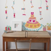 RoomMates Birthday Cake Peel and Stick Giant Wall Decal, Pink