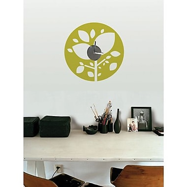 RoomMates Amazon Forest Clock Peel and Stick Wall Decal, Green