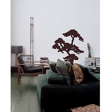 RoomMates Bonsai Tree Peel and Stick Giant Wall Decal, Black
