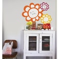 RoomMates Flowers Dry Erase Peel and Stick Wall Decal