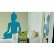 RoomMates indian Buddha Peel and Stick Giant Wall Decal, Blue