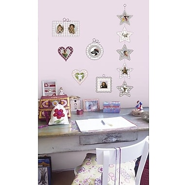 RoomMates Romantic Photo Frames Peel and Stick Wall Decal