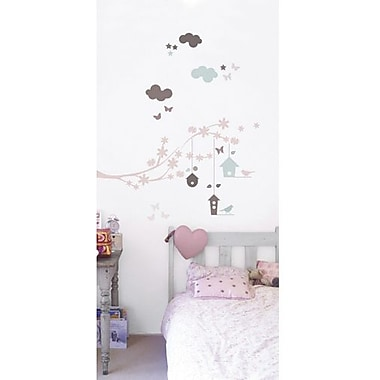 RoomMates Branches and Bird Houses Peel and Stick Wall Decal