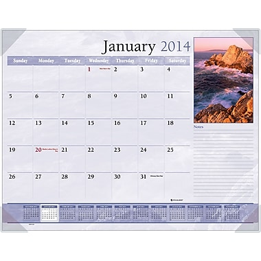 2014 AT-A-GLANCE® Scenic Desk Pad, 22in. x 17in.