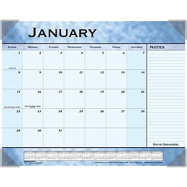 "2014 AT-A-GLANCE® Slate Blue Desk Pad, 22"" x 17"""