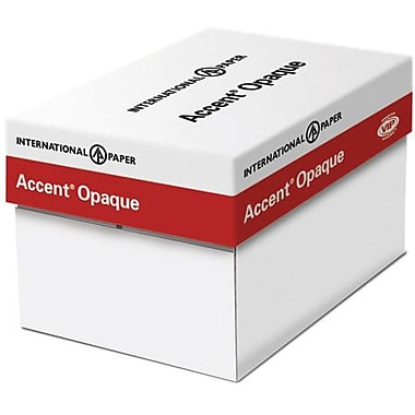 IP Accent® Opaque 12in. x 18in. 50 lbs. Smooth Multipurpose Paper, White, 2500/Case