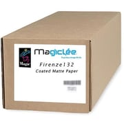"Magiclee/Magic Firenze 132 60"" x 100' Coated Matte Presentation Paper, Bright White, Roll"