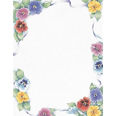 Great Papers® Pretty Pansies Stationery