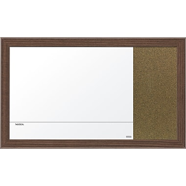 Quartet® Magnetic Combination Board, 18in. x 30in., Walnut Finish Frame