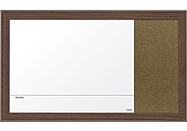 Quartet® Magnetic Combination Board, 18' x 30', Walnut Finish Frame