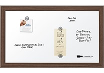 Quartet® Magnetic Dry-Erase Board, 18' x 30', Walnut Finish Frame