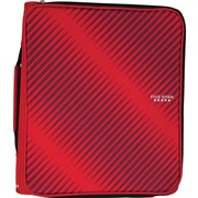 Five Star 2-Inch Round Ring Zipper Binder, Red (72184)