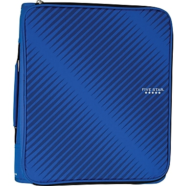 "Five Star 2"" Zipper Binder + Multi-Access File, Blue"