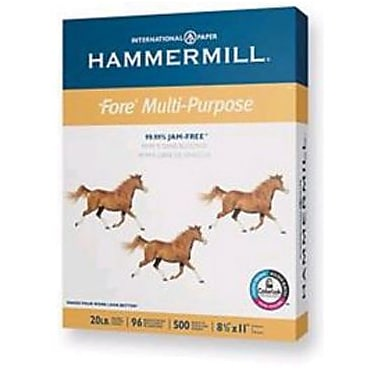 IP Hammermill® Fore® 8 1/2in. x 11in. 24 lbs. 3HP Multipurpose Bond Paper, White, 5000/Case