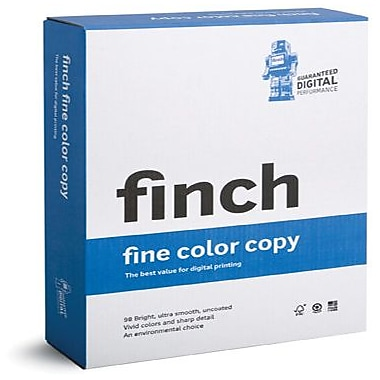 Finch® Fine ID 80 lbs. Color Copy Smooth Cover, 18in. x 12in., Bright White, 500/case