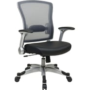 Office Star Space Seating® Eco Leather Mid Back Executive Chair, Black