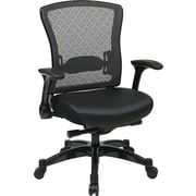 Office Star Space Seating® Memory Foam Mid Back Executive Chair, Black